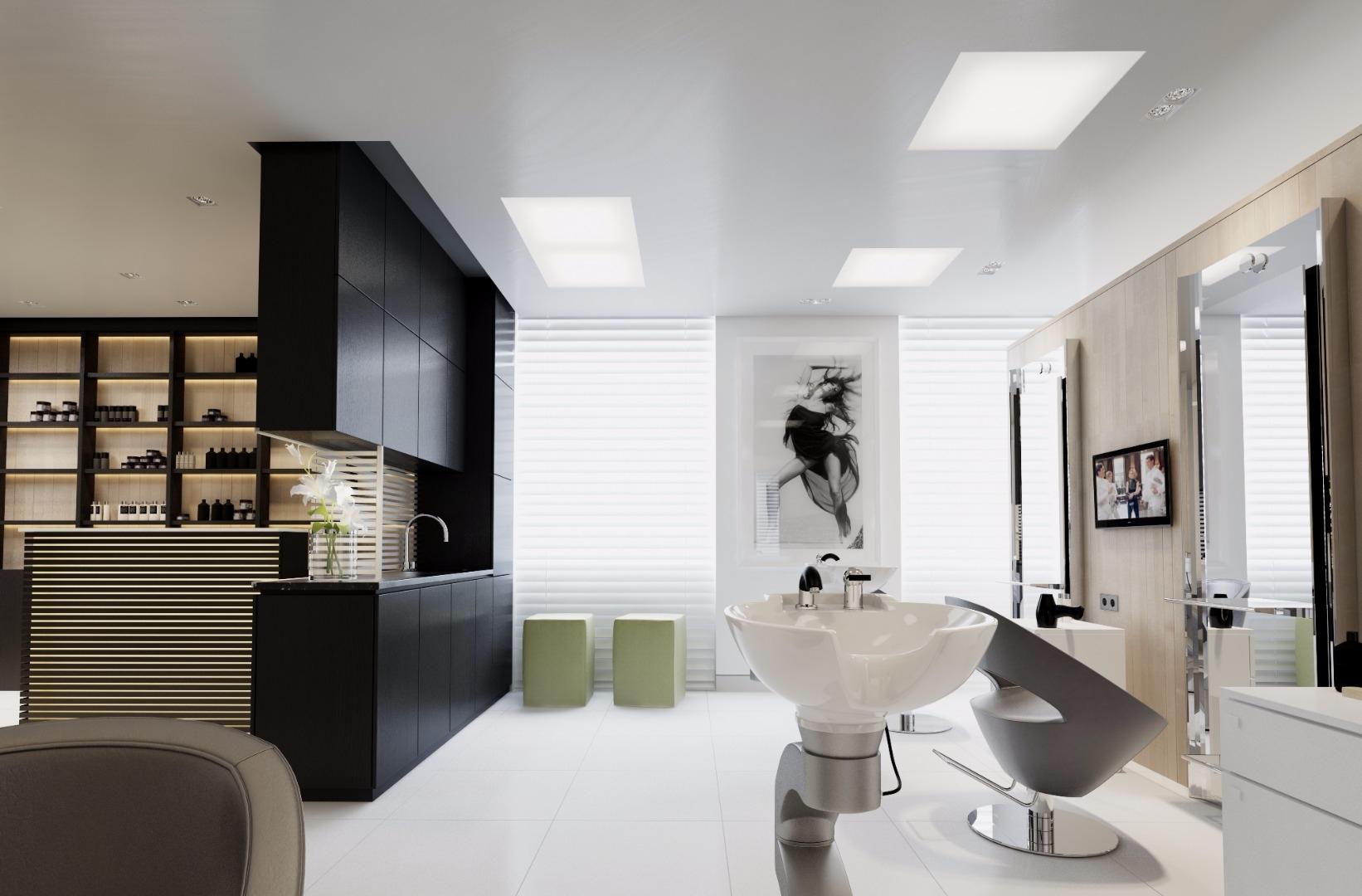 салоны красоты в черно белом стиле фото